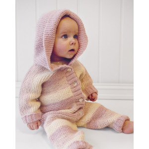 Playdate by DROPS Design - Knitted Baby Overall with Hood Pattern Size 0 months - 4 years