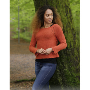 Autumn Vines by DROPS Design - Knitted Jumper with Leaf Pattern size S - XXXL