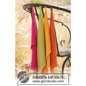 Summer Spices by DROPS Design - Knitted Towels Pattern 31x45 cm
