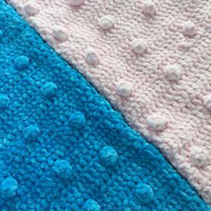 Velour Popcorn Baby Blanket by Rito Krea - Baby Blanket Crochet Pattern 69x89cm
