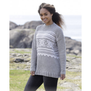 Vintermys by DROPS Design - Knitted Jumper with multi-coloured Norwegian Pattern size S - XXXL