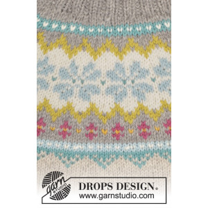 October Dream by DROPS Design - Knitted Jumper with Norwegian Pattern Size S - XXXL