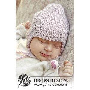 Lullaby by DROPS Design - Knitted Baby Hat Pattern Size 0 months - 4 years