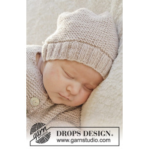 In my dreams by DROPS Design - Knitted Baby Hat Pattern Size Premature - 3/4 months
