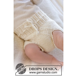 Pampered by DROPS Design - Knitted Baby Underpants Pattern Size Premature - 3/4 years