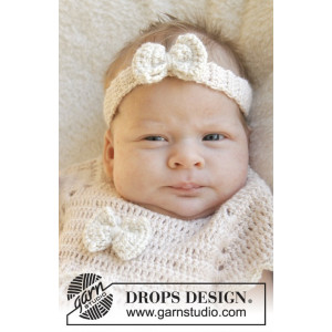 Baby Butterfly by DROPS Design - Crochet Baby Headband Pattern Size 0/1 months - 3/4 years