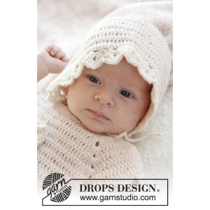 Camille by DROPS Design - Crochet Baby Hat Pattern Size 0/1 months - 3/4 years