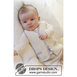 Heartthrob Vest by DROPS Design - Crochet Baby Vest Pattern size 1/3 months - 3/4 years