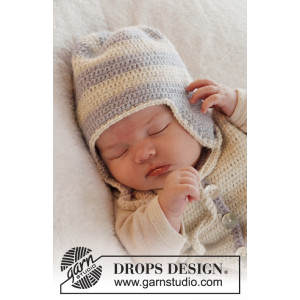 Heartthrob Hat by DROPS Design - Crochet Baby Hat Pattern size 1/3 months - 3/4 years
