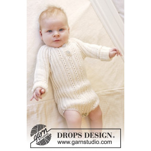 Simply Sweet by DROPS Design - Knitted Baby Bodystocking Pattern size Premature - 3/4 years