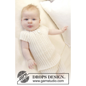 Simply Sweet Singlet by DROPS Design - Knitted Baby Underwear Pattern size Premature - 3/4 years