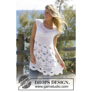Breath of Summer by DROPS Design - Crochet Tunic Pattern size S - XXL