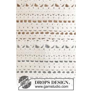 Seashore Bliss by DROPS Design - Crochet Jumper Pattern size S - XXXL