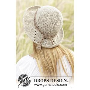 My Girl by DROPS Design - Crochet Hat Pattern 54/58 cm