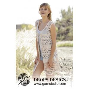 Summer Bliss West by DROPS Design - Vest Crochet Pattern size S - XXXL