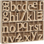Wooden Letters, H: 8 cm, thickness 2 cm, 112 pcs, MDF