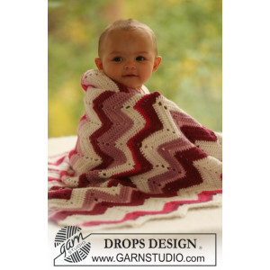 Baby Snug by DROPS Design - Crochet Baby Blanket Pattern 65x83 cm or 75x83 cm