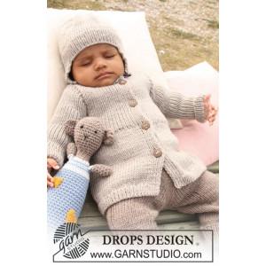 Samuel Jakke by DROPS Design - Knitted Baby Jacket size 1/3 months - 3/4 years