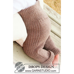 Samuel Pants by DROPS Design - Knitted Baby Pants Pattern size 1/3 months - 3/4 years