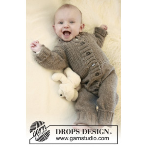 Happy Days by DROPS Design - Knitted Baby Overall Pattern size 1/3 months - 3/4 years