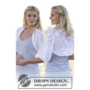 Kamelia by DROPS Design - Square Knitted Bolero Pattern size S - XXXL