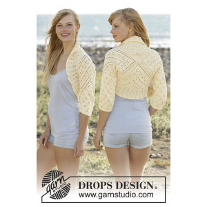 Lemon Cross by DROPS Design - Knitted Bolero Pattern size S - XXXL