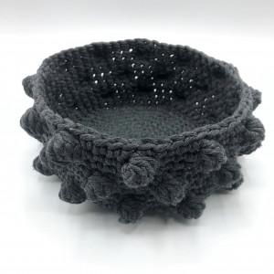 Bobble Stitch Basket by Rito Krea - Basket Crochet Pattern 18cm