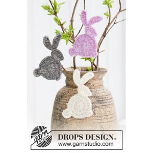 Hoppity Hop by DROPS Design - Crocheted Rabit Pattern 10x5 cm