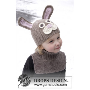 Honey Bunny by DROPS Design - Crocheted Easter bunny Hat Pattern Sizes 1-8 years