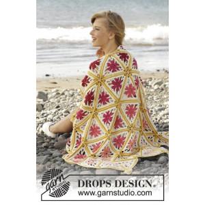 Spring Daze by DROPS Design - Crochet Blanket Pattern 93x130 cm