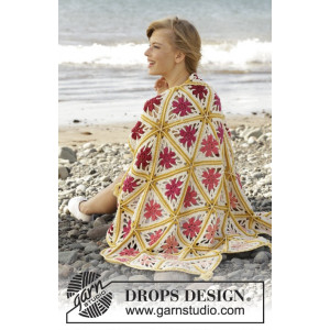 Spring Daze by DROPS Design - Crochet Blanket Pattern 93x130