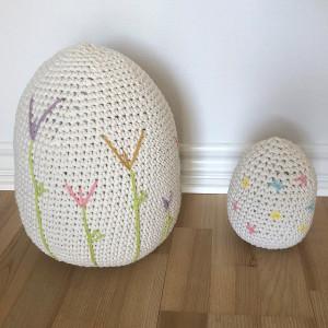Easter Eggs by Rito Krea - Easter Egg Crochet Pattern 18cm - 31cm