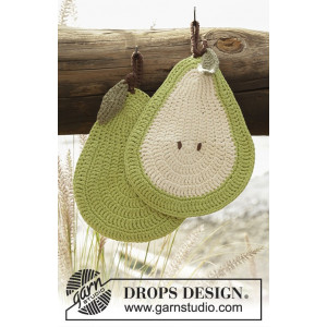 Quite a Pear! by DROPS Design - Crochet Pear Pot Holders Pattern