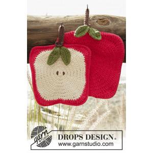Sweet Apples by DROPS Design - Crochet Apple Pot Holders Pattern