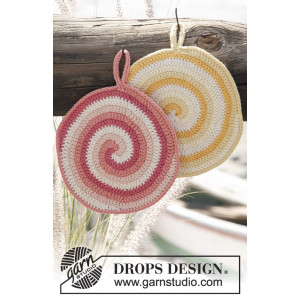 Candy Daze by DROPS Design - Crochet Pot Holders Pattern