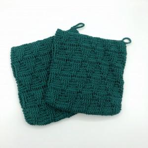 Triangle Pot Holders by Rito Krea - Pot Holders Crochet Pattern 20x20cm