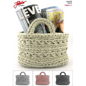Hoooked DIY Crochet Kit Zpagetti Basket Revisto Yellow 28x18 cm