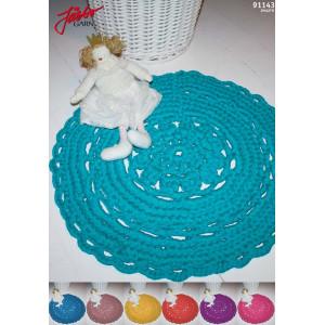 Hoooked DIY Crochet Kit Flora Round Rug