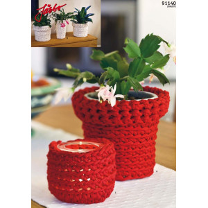Hoooked DIY Crochet Kit Plant Pot Cozy