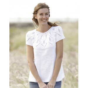 Summer Leaves Top by DROPS Design - Knitted Top Pattern size S - XXXL