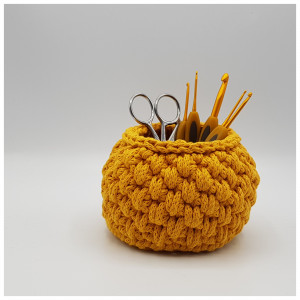 Spike Stitch Pencil Holder by Rito Krea - Pencil Holder Crochet Pattern