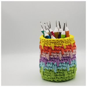 Spiral Effect Pencil Holder by Rito Krea - Pencil Holder Crochet Pattern