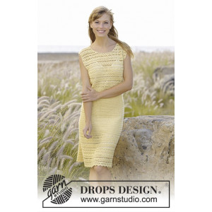 Mimosa by DROPS Design - Crochet Dress Pattern size S - XXXL