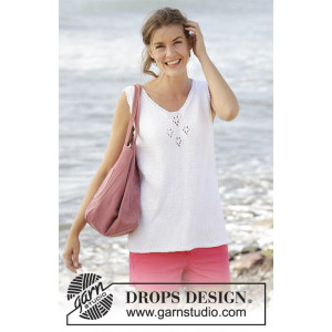7ccec768d1bc Erica Top by DROPS Design - Knitted Top with Lace Pattern size S ...