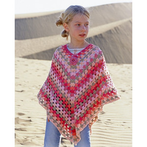 Little Sophie by DROPS Design - Crochet Poncho Pattern size 5 - 14 years