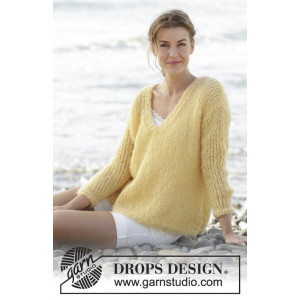 Summer Melody by DROPS Design - Knitted Blouse Pattern size S - XXXL