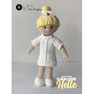 Mayflower Little Bits Everyday Heroes Nurse - Crochet Doll Pattern