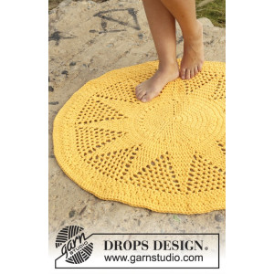 Sol by DROPS Design - Crochet Rug Pattern 84 cm