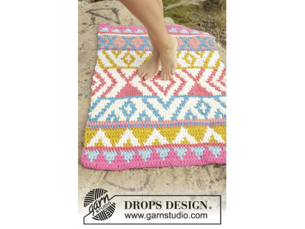 The Trail By Drops Design Crochet Rug Pattern 68x106 Cm