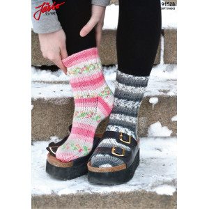 Järbo Classic Socks with stretch - Knitted Socks Pattern size 21-45